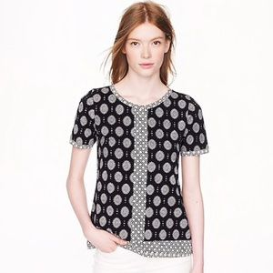 J. Crew Women's Mixed Print T-Shirt Size XS